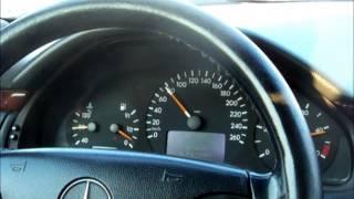 Mercedes Benz E270 acceleration 0-180 km/h