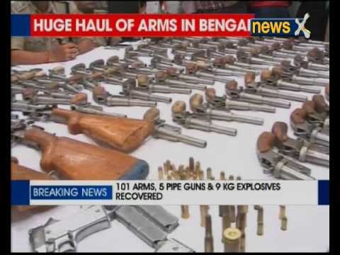 Arms smuggling racket busted; 101 arms, 5 pipe guns and 9 kg explosive recovered