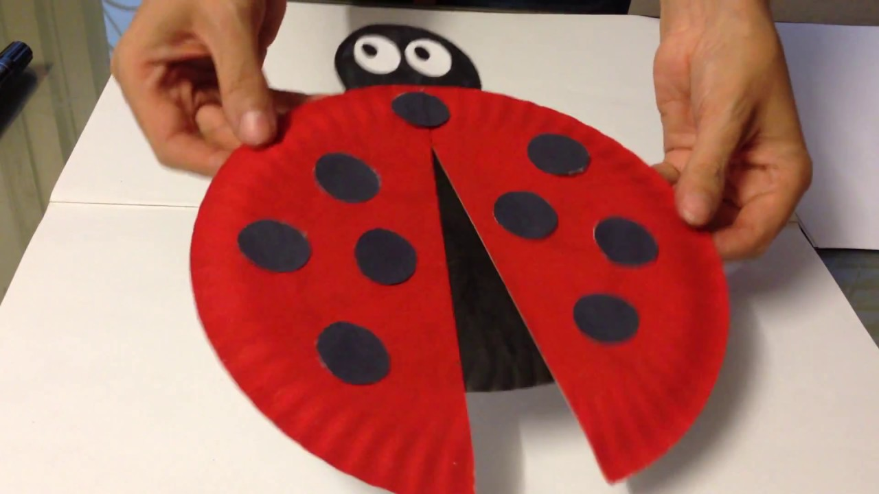 Easy Ladybird made of Paper Plate & Easy Ladybird made of Paper Plate - YouTube