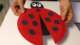 Easy Ladybug made of Paper Plate