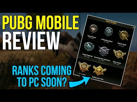PUBG Mobile Review - RANKS COMING TO PC SOON? - PUBG News