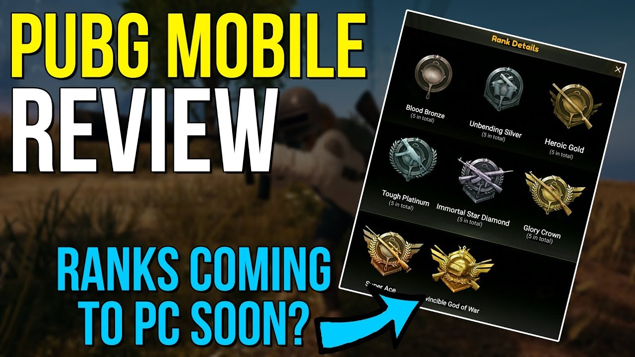 Pubg Mobile Hd Coming Soon: The Rankings Watch Rankings