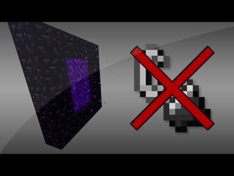 Minecraft [1.4.5] Portal Ohne Feuerzeug Anzünden!