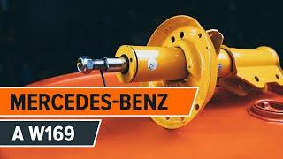 Vgradnja spredaj in zadaj Blazilnik MERCEDES-BENZ A-CLASS (W169): brezplačne video