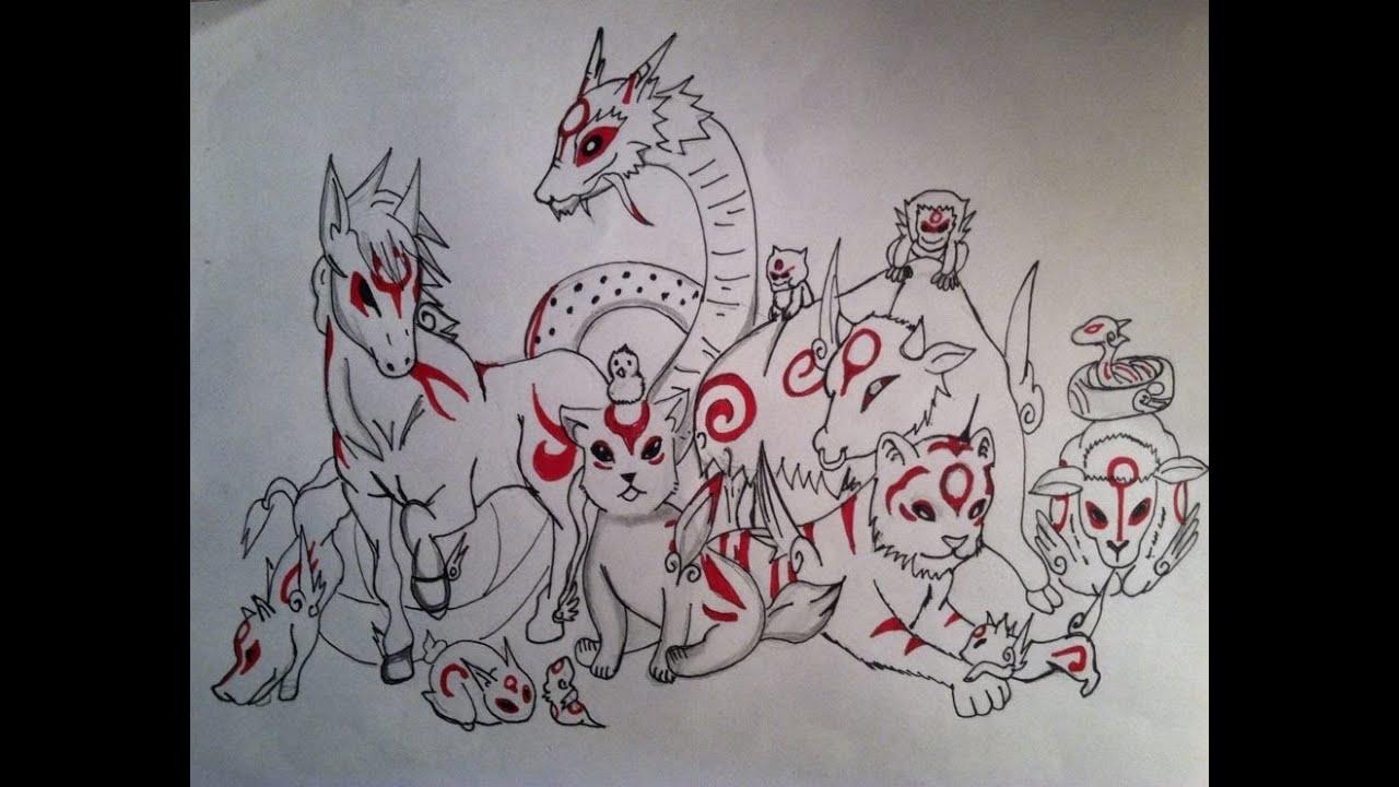 Anime Characters Animals : Drawing manga animals okami characters youtube