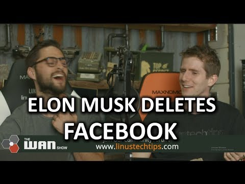 Elon Musk DELETES his Facebook elon musk