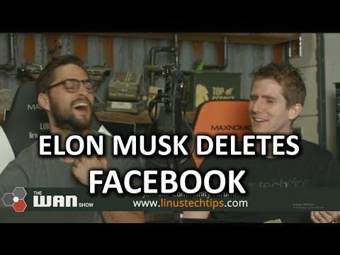 Elon Musk Joins #DeleteFaceboo elon musk