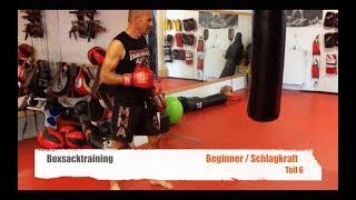 BOXSACK TRAINING BEGINNER TEIL 6 SCHLAGKRAFT mit Guido Wedekind