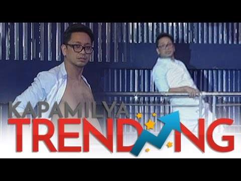 Sample King Jhong Hilario shows his dance moves