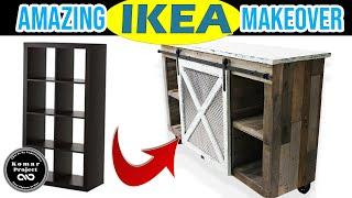 IKEA Kallax Makeover; $70 Ikea HACK ( Pallet Kallax)