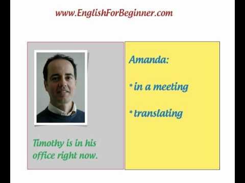 Najčešći glagoli u engleskom - Present Simple i Continuous