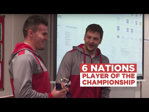 Iain Henderson surprises Jacob Stockdale with Six Nations Player of the Championship award