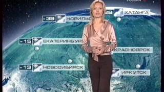 Прогноз погоды и начало ночного вещания (Россия, зима 2007)