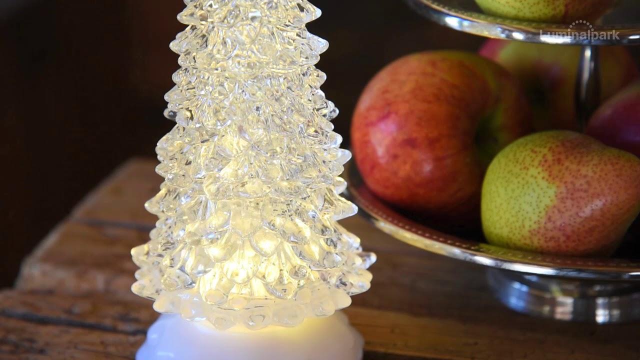 Weihnachtsbaum aus Acryl h 27 cm, LED warmweiß, batteriebetrieben ...