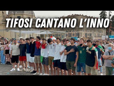 ITALIA GALLES   L'inno ITALIANO cantato a ROMA (EMOZIONANTE) #Euro2020