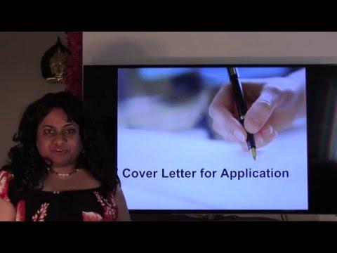 Application- Cover Letter
