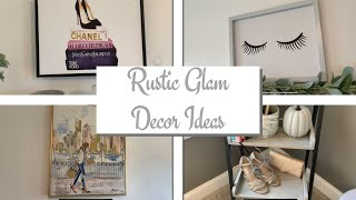 RUSTIC GLAM DECOR IDEAS | RUSTIC GLAM BEDROOM DECOR