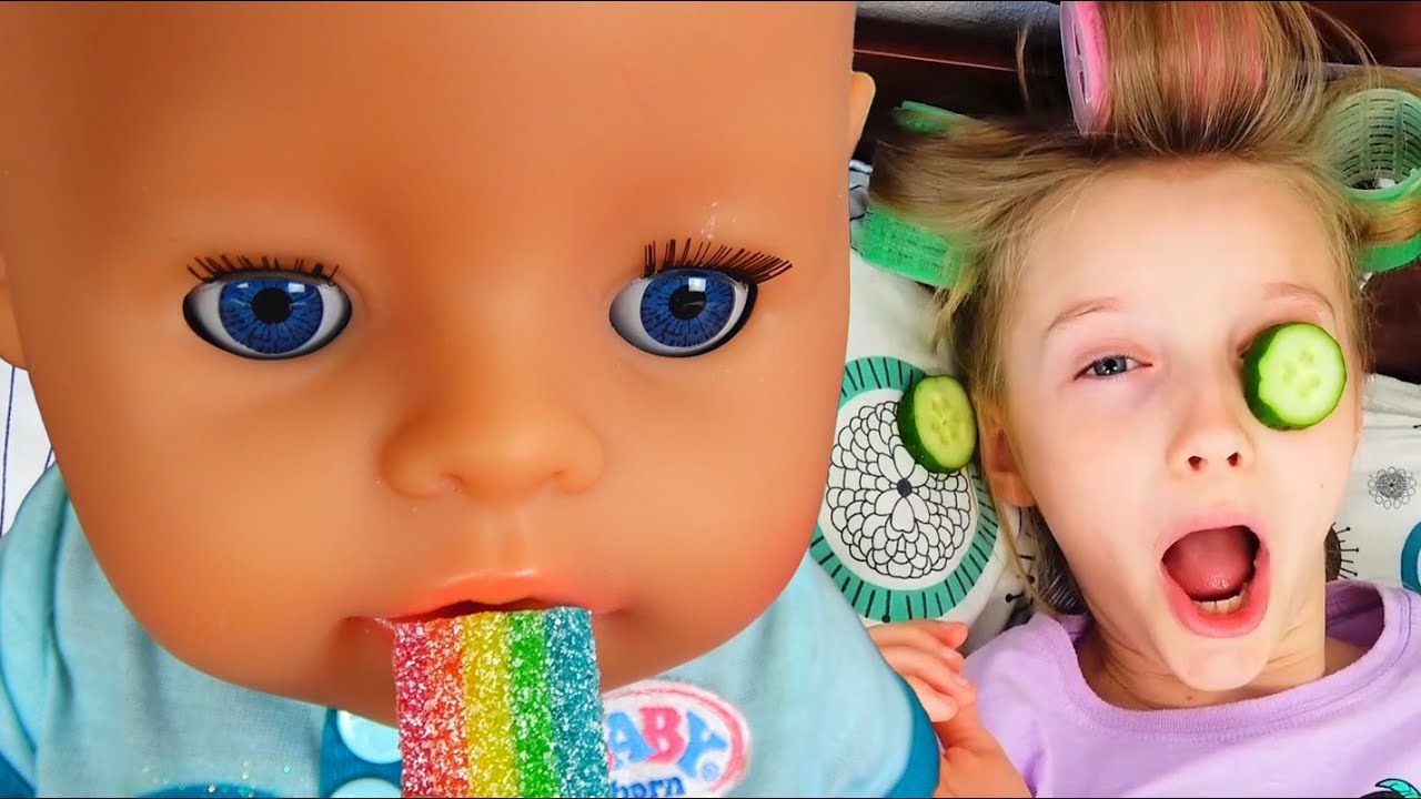 Полина и веселые истории с игрушками