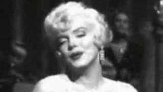 "Marilyn Monroe ""I Wanna Be Loved By You"""