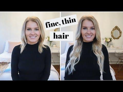 amazon-hair-extensions-on-fine,-thin-hair