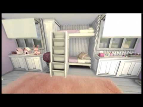 Sims 4 Room Build Showcase Bunk Bed Teen Bedroom