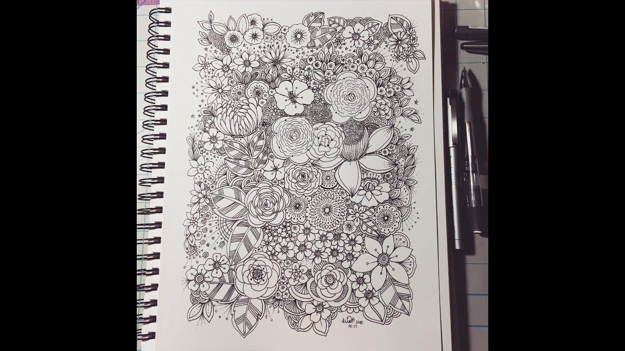 Beautiful Girl Hidden Face Wallpaper X8 Speed Flower Shapes 2 Zen Doodles By Kc Youtube