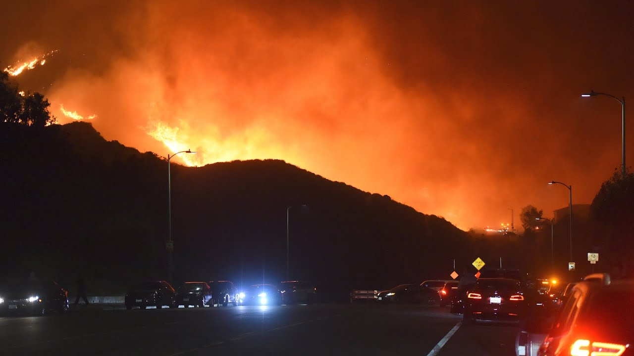 watch live: aerial views of saddleridge fire raging in southern california