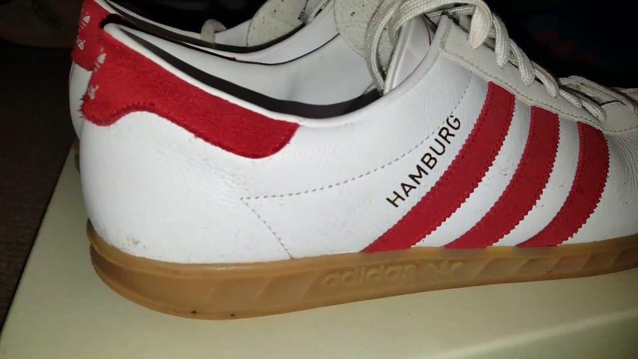 white red adidas hamburg