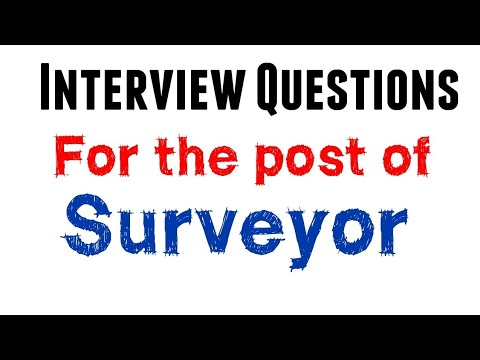 interview questions for civil surveyor
