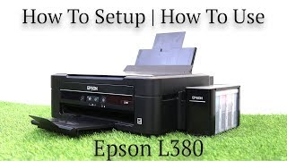 Epson L380 all-in-one  printer review | how to setup | how to use