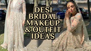 Desi Bridal MakeUp & Outfit Ideas! STUNNING / BEAUTIFUL OUTFIT FOR SALE!!!!!