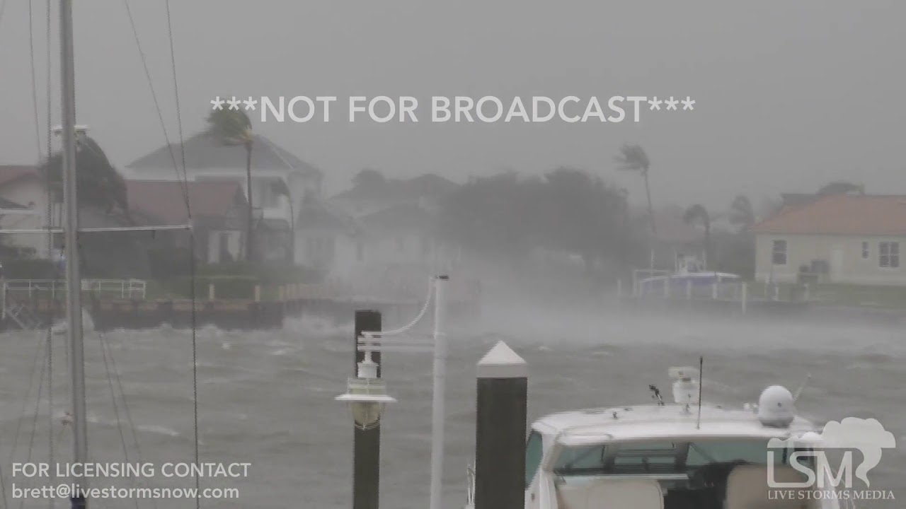 Exclusive: Hurricane comes ashore at Marco Island