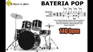Bateria Pop 140 Bpm