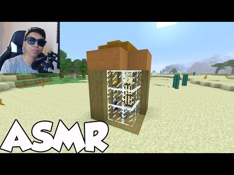 ASMR Minecraft 3x3 TINY House TUTORIAL! - Whispering/Controller Sounds!