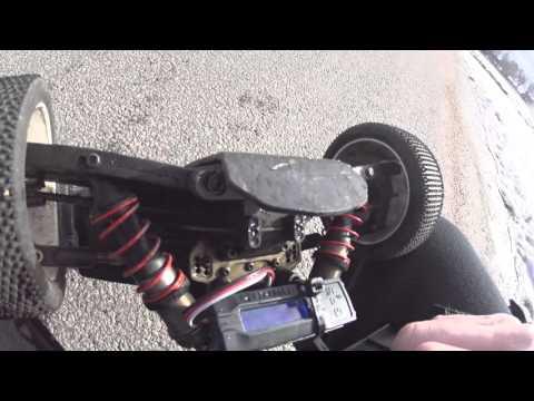 hpi vorza speedrun, turnigy bolt lihv vs nano tech battery (107,4 km/h)