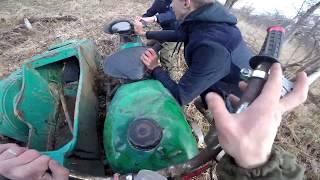 Прорываемся через лес на Мотоцикле Урал