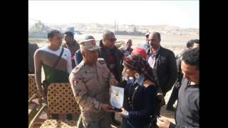 Journalists Ismailia offer gift Koran  to  kamel elwazer January 2015