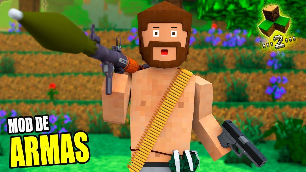 O MOD DAS ARMAS ATUALIZOU !!!!! ARMAS ULTRA REALISTAS ADICIONADAS NO SURVIVALCRAFT 2