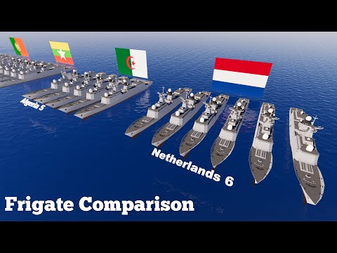 Frigate (Warship) Fleet Strength by Country (2020) Military Power Comparison 3D