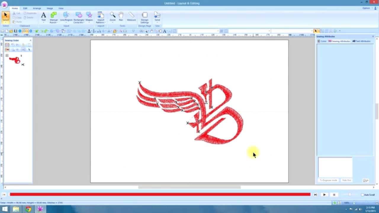 1. PE Design 10- Advanced digitizing- Pathing - YouTube