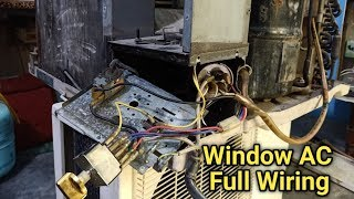 Window AC Compressor,Fan Motor,Selector Switch,Capacitor All connection wiring