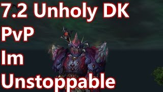 WoW - 7.2 Unholy Death Knight PvP - UNSTOPPABLE (111M Damage) - Battleground w/Commentary (Live)