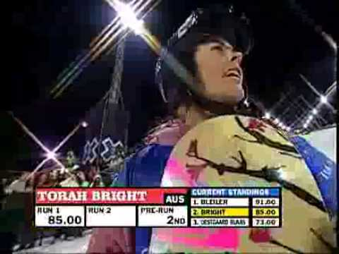Torah Bright's winning run at Winter X Games 11
