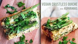 Vegan Crustless Asparagus Quiche
