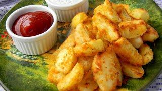 Хрустящие картофельные дольки в панировке рецепт запекания картошки дольками в духовке