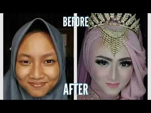 Tutorial Makeup Pengantin Before After Wow Amazing Youtube