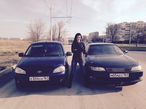 Toyota Mark2 VS Lada Kalina