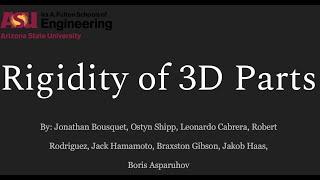 Spring2020-Rigidity of 3D Printed Parts