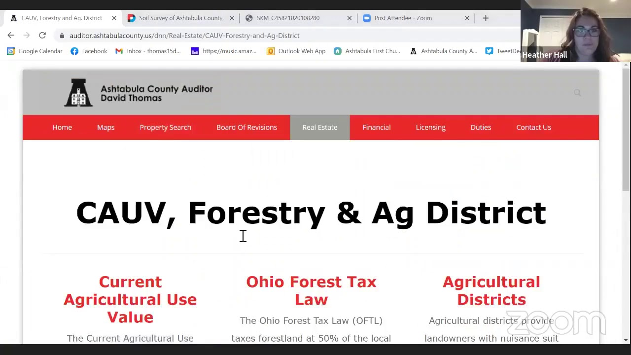 CAUV Webinar and Agricultural Tax Credits