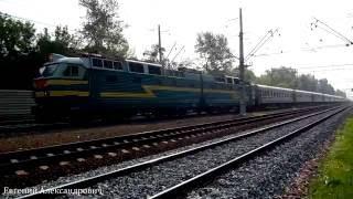Электровоз ЧС7-280 (ТЧЭ-1) с пассажирским поездом №558С, Адлер - Печора.(, 2016-08-02T02:21:10.000Z)